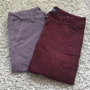 AEO skinny khaki pants